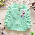 2016 new spring  cotton Casual  Baby Girls sweet Cartoon mouse Dots  Pattern long-sleeve Outwear Coats cardigan Y1665