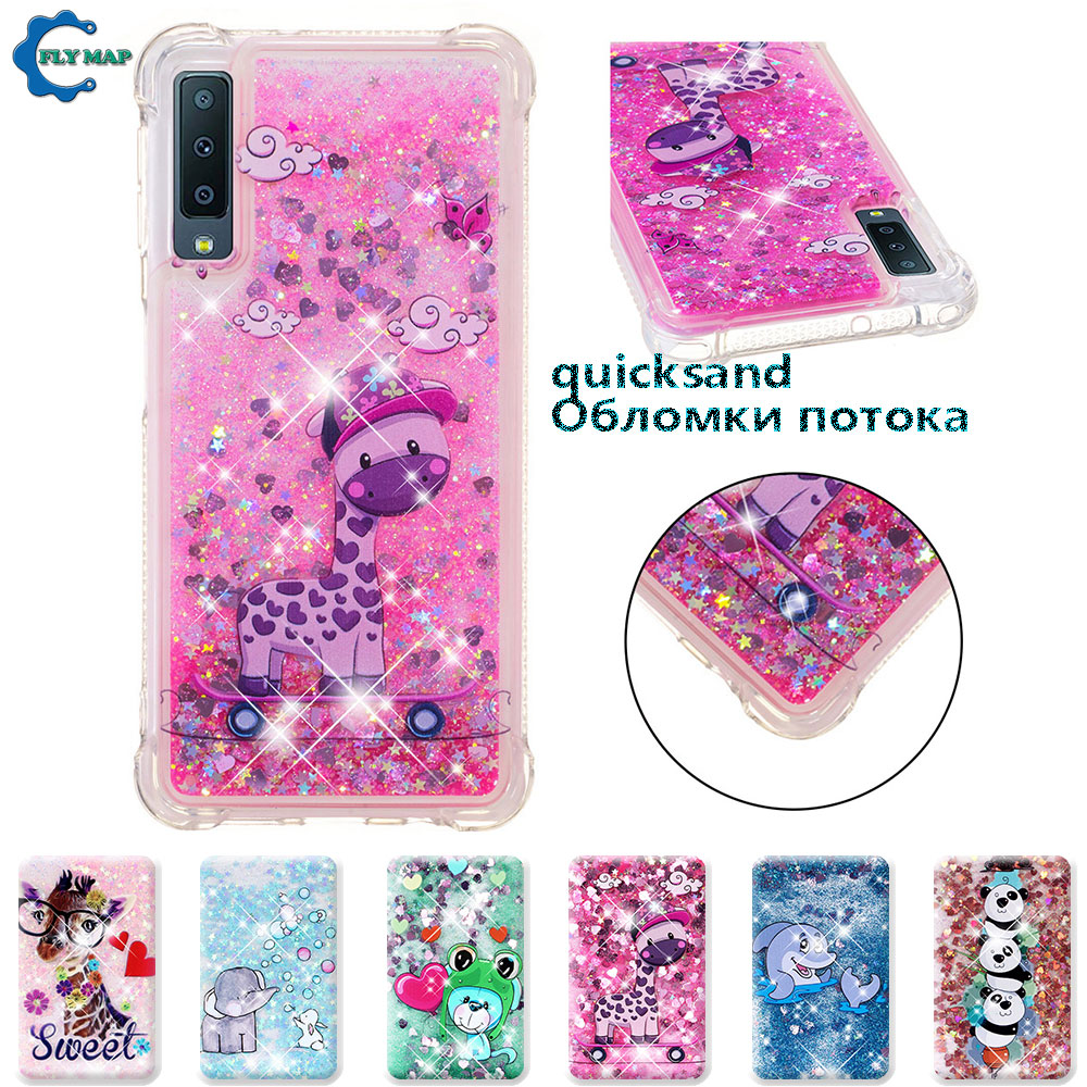 Fitted Cases Phone Bags & Cases Official Website Case For Samsung Galaxy A7 2018 A750 A750f A750f/ds Sm-a750f/ds Sm-a750fn A750fn Glitter Stars Dynamic Liquid Quicksand Tpu Case High Quality