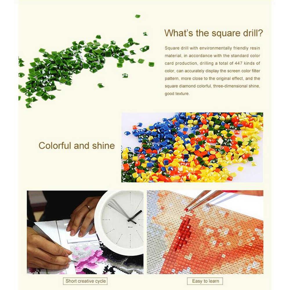 Voll Platz/runde DIY Diamant Malerei Kreuz Stich leopard Diamant Stickerei Tier Mosaik Strass hause dekoration M817