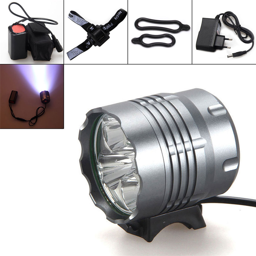Quality Waterproof 8000Lm 5x T6 LED Front Bicycle Light Bike Headlamp Headlight for Camping Fishing Caving