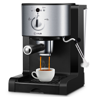 Итальянский капельного Кофе машины полуавтоматическая пара Кофе горшок Кофе Косметическая пудра капсулы три в одном ручка 15Bar молочной пен