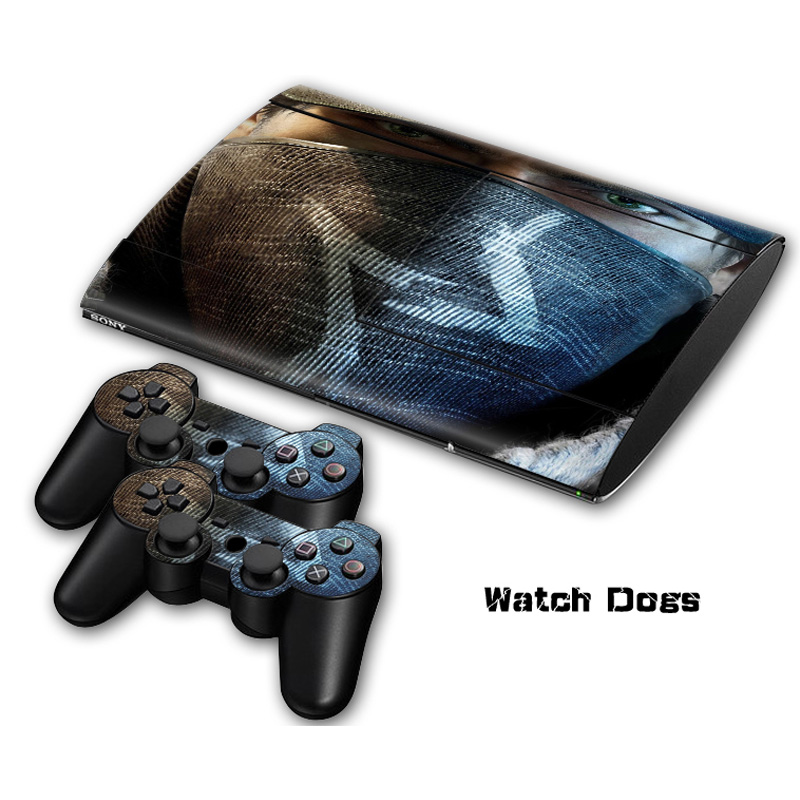 Protective decal cover for ps3 super slim console and 2 controllers skin sticker