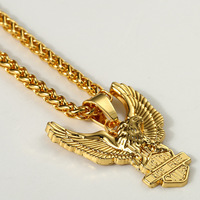 ER 2017 Nam Gold Filled Thanh Vòng Cổ Người Đàn Ông Dài Rope Iced Out Franco Chain Đá Unisex Vàng Eagle Jewelry HN020
