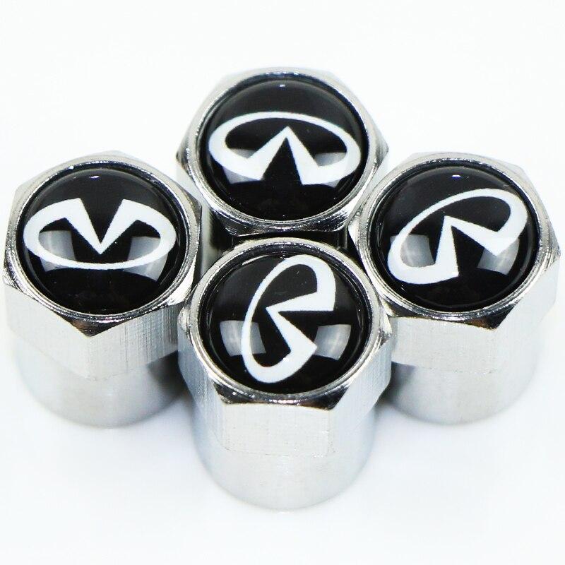 Автомобильные колпачки для клапанов эмблема металлическая крышка чехол для Infiniti FX35 Q50 Q30 ESQ QX50 QX60 QX70 EX JX35 G35 G37 аксессуары для стайлинга автомо...
