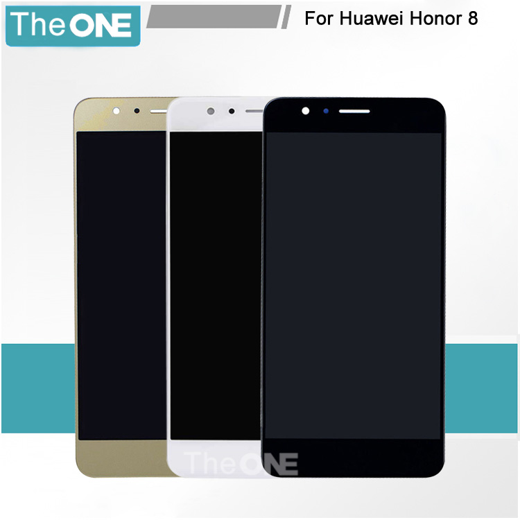 где купить  Complete LCD Display Touch Screen Glass Digitizer For Huawei Honor 8 LCD Assembly Black White Gold Free shipping  по лучшей цене