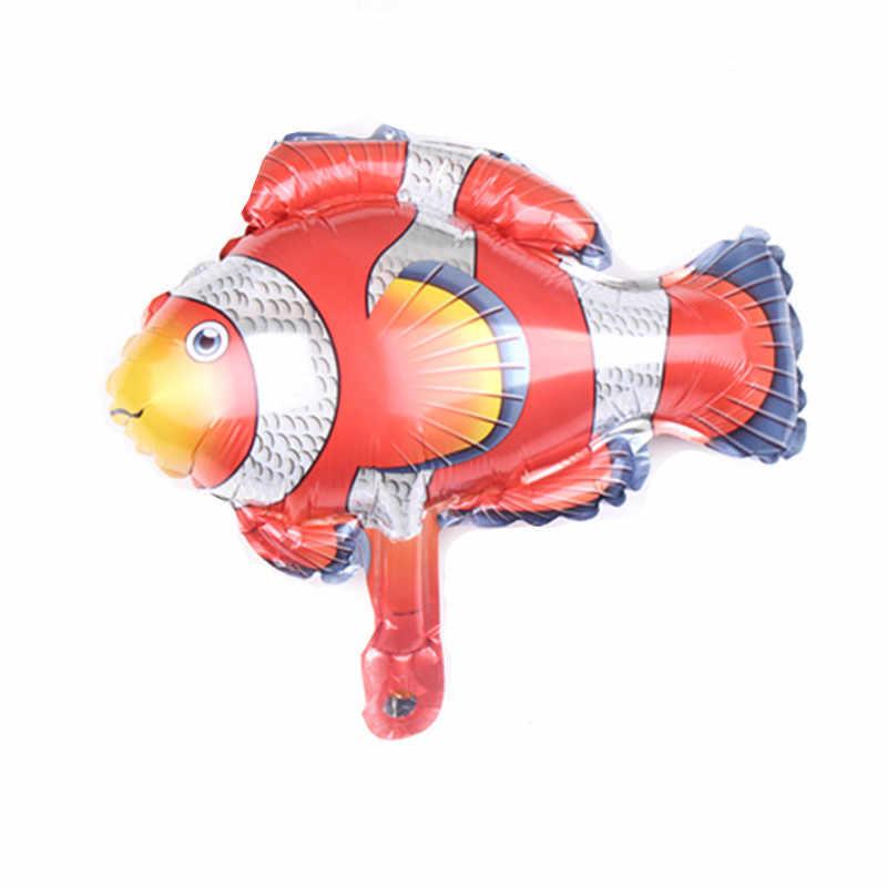 1 шт. мини воздушные шары из фольги в виде головы животного Дети День рождения тема джунгли вечерние океан рыбный шар надувные игрушки детский душ Единорог часть