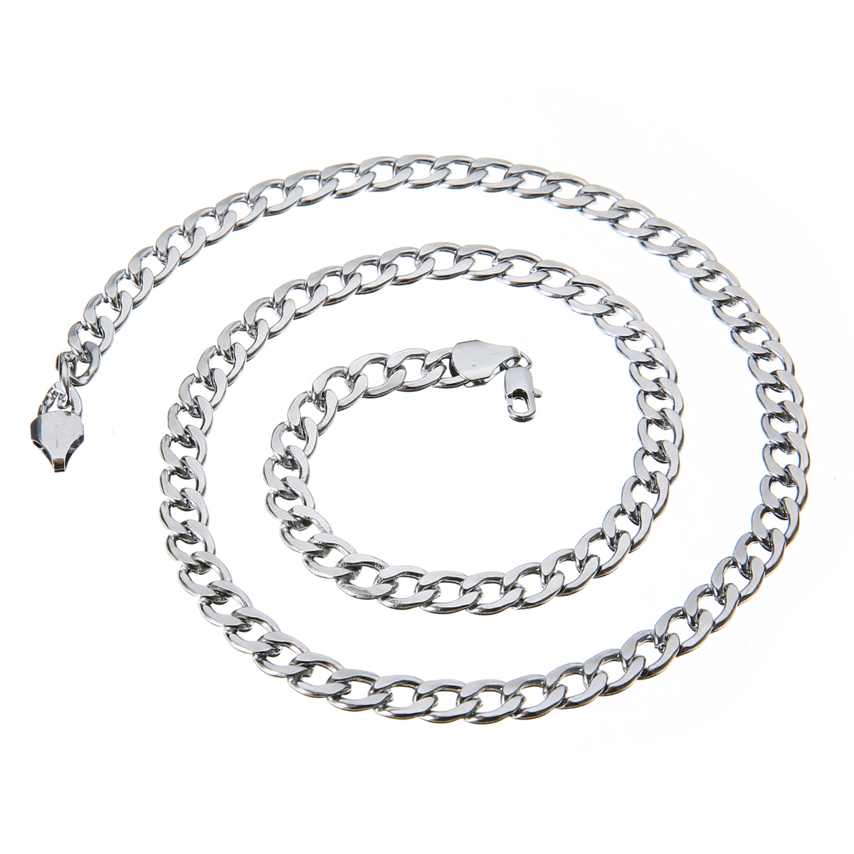 link us silver chain icing thick necklace