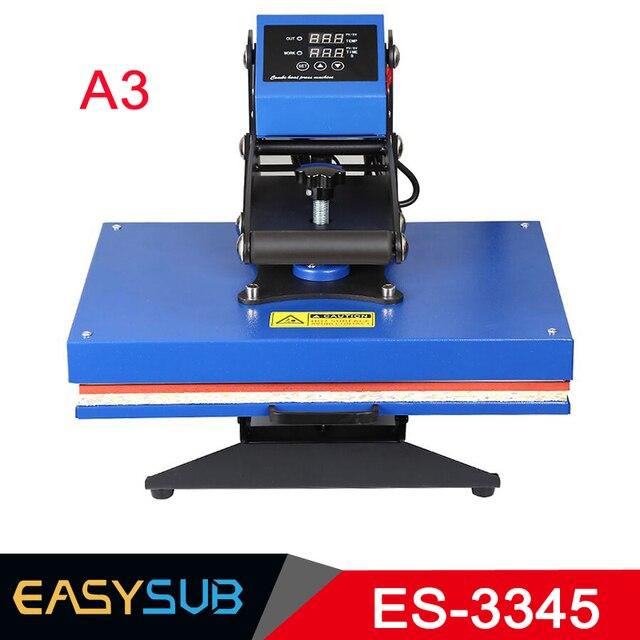 33*45 CM máquina de prensado máquina de A3 de alta presión de la máquina de impresión de perforación en caliente de la impresión de la camiseta de multi-función de calor máquina de la prensa