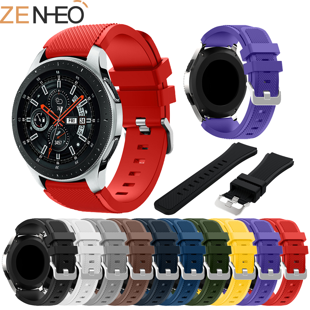 Sport Silicone Strap For Samsung Galaxy Watch 46mm Band Replace Wrist Bracelet Straps For Samsung Gear S3 Classic/ Frontier Band