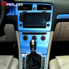 Interior Central Control Panel Carbon Fiber Protection Stickers And Decals Car styling For VW Volkswagen Golf 7 MK7 Accessories 1