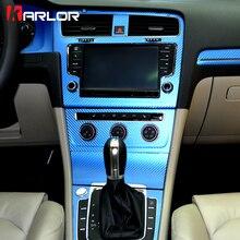 Интерьер центральный управление панель углерода волокно защиты наклейки и наклейки стайлинга автомобилей для Фольксваген Гольф 7 MK7