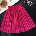 Brand Design Baby Girls Pleated Skirts Kids Princess Velvet Clothes Birthday Gift Kawaii Skirt Toddler Ball Gown Party Wholesale