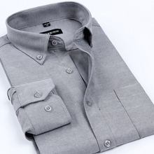 2015 New Arrival Oxford Men s Brand Dress Shirts Men Non Iron Solid Color Business Formal