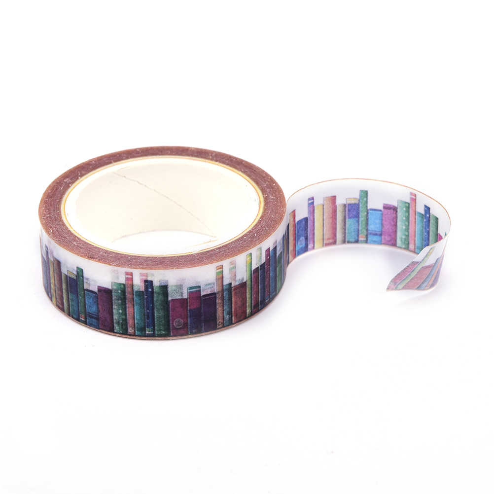 Hot Selling Diy Bibliotheek Washi Tapes Decoratieve Plakband Schoolbenodigdheden 15 Mm * 10 M