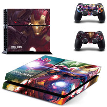 Vinyl Decal Skin Sticker Cover of IRON MAN TONY STARK for Sony PS4 PlayStation 4 and 2 controller skins
