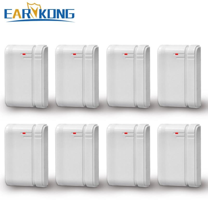 Earykong Wireless Door Gap Detector, 433MHz, Inside Antenna, 8 Pieces Include, For Security Home Alarm System, Door Magnet Alarm
