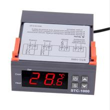 Two Relay Output LED Digital Temperature Controller Thermostat Incubator STC-1000 110V 220V 12V 24V 10A with Heater and Cooler 100% new and original fotek temperature controller mt72 r 90 265vac relay output