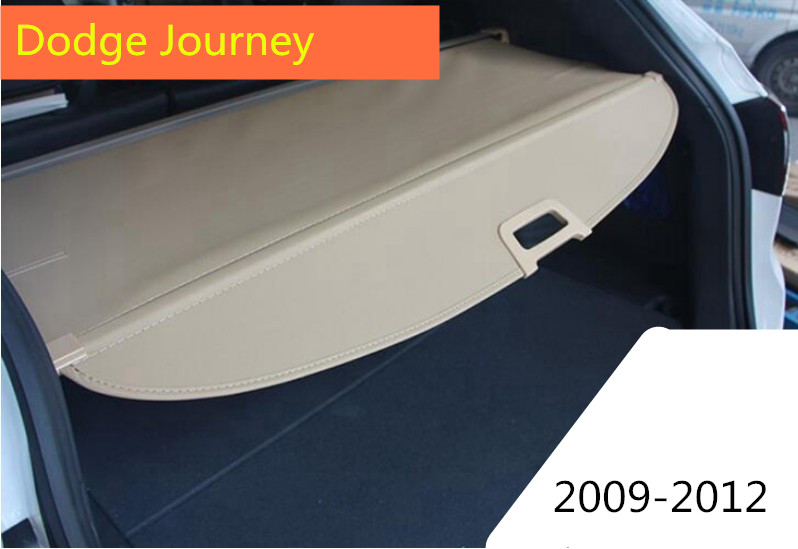 Car Rear Trunk Security Shield Cargo Cover For Dodge Journey 2009.2010.2011.2012 High Qualit Black Beige Auto Accessories car rear trunk security shield cargo cover for hyundai tucson 2006 2014 high qualit black beige auto accessories