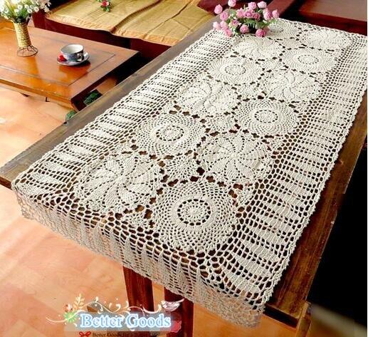Camino de mesa de ganchillo compra lotes baratos de - Camino de mesa elegante en crochet ...