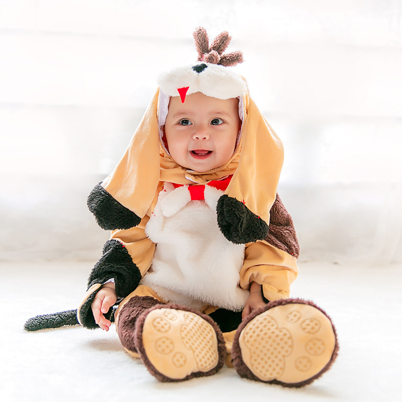 Puppy Animal Baby Outfit Kids Dog Fancy Costume for Christmas Halloween Kids Clothes Newborn Dog Winter Overalls Autumn Cartoon