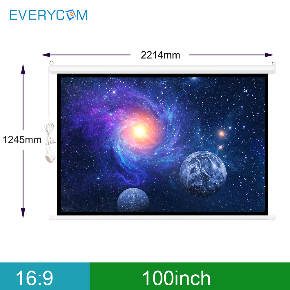 Écran électrique tout LED LCD DLP 100 pouces 16:9 pour rideaux de projecteur motorisés pour Xgimi h1 h2