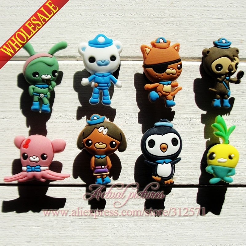 цены на  New Arrival,40pcs The Octonauts  PVC shoe charms shoe decoration/shoe accessories Shoe Ornaments for kids party gift