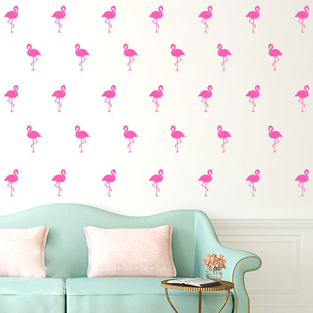 Beautiful Flamingo Wall Stickers Bird Decals For Kids Rooms DIY Art New Design Home Decoration Art Mural Wall Sticker Wall Stic