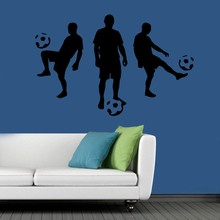 цена Soccer Wall Sticker Football Player Decal Sports Decoration Mural for Boys Kids Room Decor home decor soccer sports decals