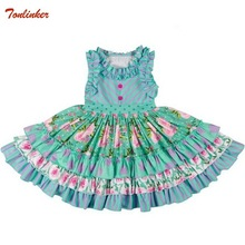 Girl Infant Children Floral Dress Toddler Baby Summer Floral Dress Ruffle Sleeveless Party Princess Dress For Girls Casual Wear