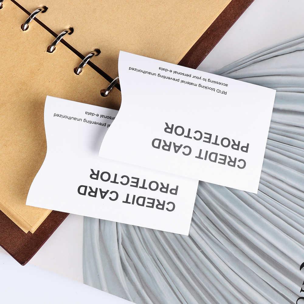 1 PC Aluminium Anti RFID blokowanie czytnik uchwyt na karty RFID ochrony inteligentny tarcza bezpieczeństwa ID etui na karty bankowe karty z długim rękawem
