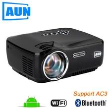 AUN AM01P FÜHRTE Projektor Unterstützung 1920×1080. mit Android, WIFI, Bluetooth. 3D Beamer für Heimkino Freies HDMI Kabel, 3d-brille