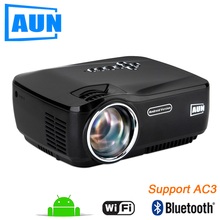 AUN AM01P LED font b Projector b font Support 1920x1080 with Android WIFI Bluetooth 3D Beamer