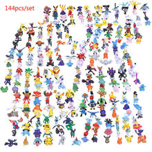 144pc/lot Cute Pikachu Figure Action Figures Mini Vinyl Dolls Pocket Monster Model Set Party Supply Collection Toys for Children stranger things character 10cm action figure toys vinyl dolls for collection