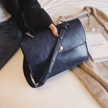 One-shoulder Slanting Harbor Breeze Leisure and Commuting Texture Edition Simple Neutral  Fashion Zipper Casual Occasion Bag цена