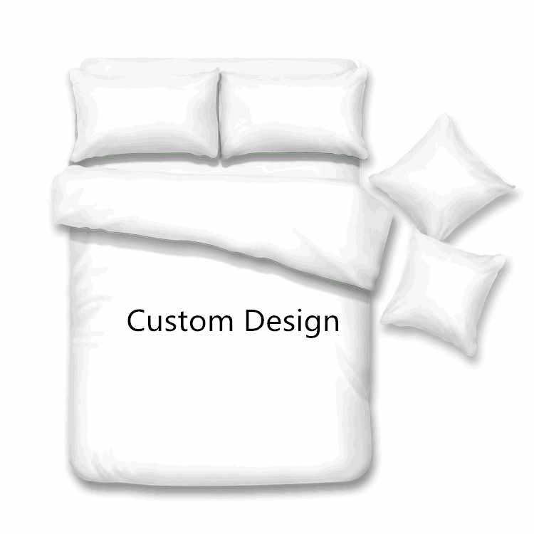 Индивидуальный дизайн постельного белья пододеяльник + наволочка Стёганое одеяло покрывало белье лист покрывало queen King size Пользовательские 3 шт.
