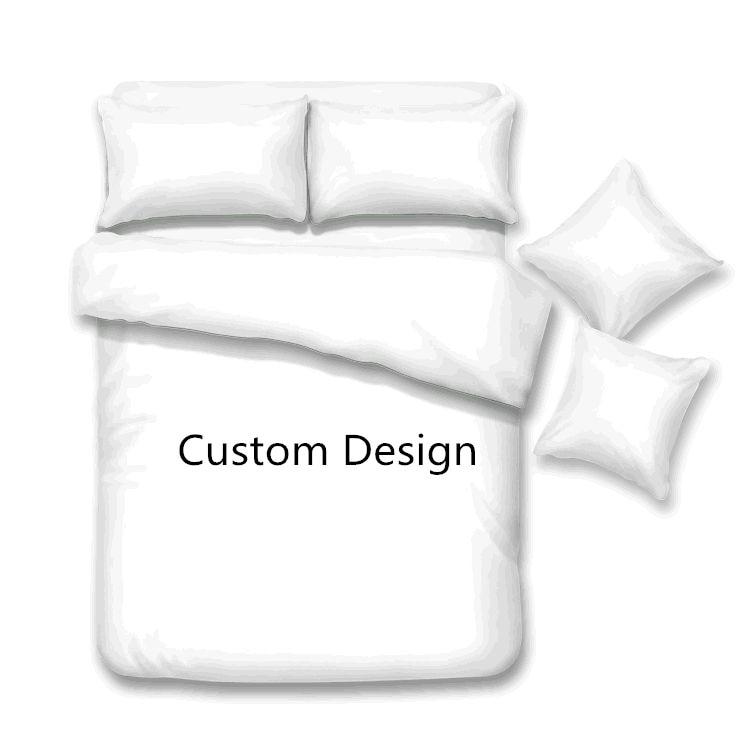 Customized design Bedding Sets Duvet Cover+Pillowcase Quilt cover bed linen sheet Bedspread Queen King size Custom 3pcs Bedding Sets    - title=
