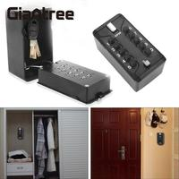 giantree KS006 Storage Organizer Boxes With 4 Digital Wall Mounted Keys Hook Metal Alloy Portable Key Safe Box Storage Money