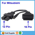 OBD2 OBDII cable For MITSUBISHI 12PIN to 16pin Adapter Connector Diagnostic scanner for MITSUBISHI