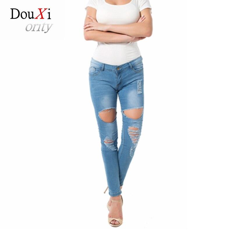 Women Pants Jeans Rasgado Para As Mulheres Stretch Skinny Slim Hole Ripped Distress Feminino Pantalon Femme Denim Sexy BF Sexy блэйзер as bf
