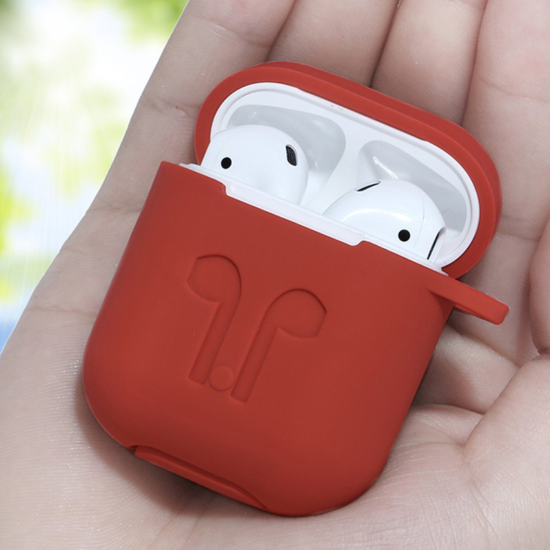 For Apple Airpods Silicone Case Soft Cover Protector with Dust Plug Anti Lost Strap Sleeve Pouch for Air pods Earphone (6)