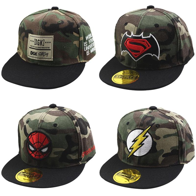 Baby Baseball Cap Baby Hip Hop Hats Child Superman Hat For Boy Girl Snapback Caps Fashion Spiderman Sun Hat Birthday Christmas(China)