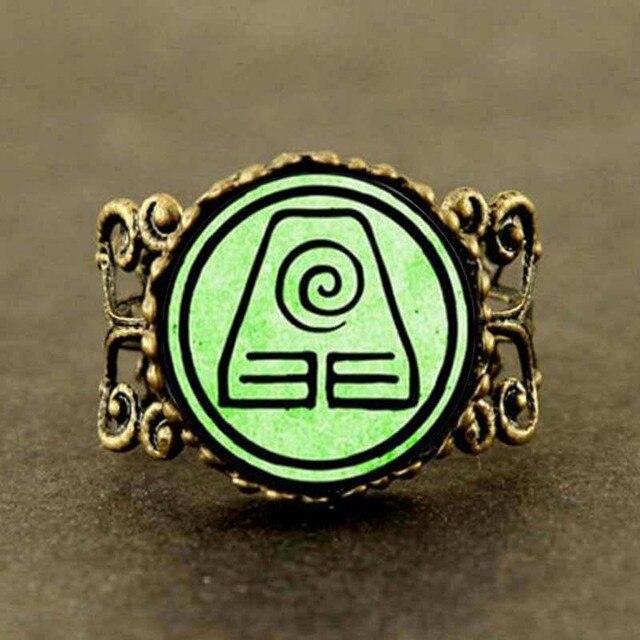 Steampunk Avatar The Last Airbender Ring Vintage Earth Kingdom