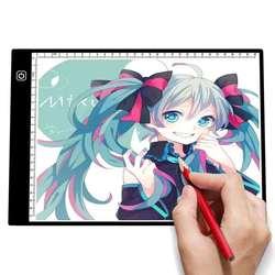 Светодиодная осветительная панель A4 для рисования, осветительная панель для графического письма, рисования, трассировщика, копировальная ...