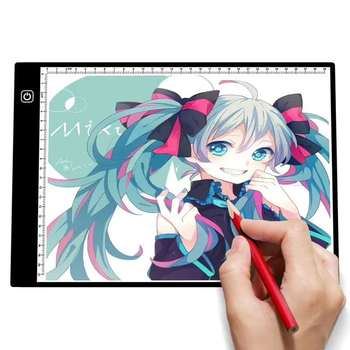 A4 LED Light Box Drawing Tablet Light Pad Graphic Writing Painting Tracer Ultra-thin Tracing Copy Pad Board Artcraft Sketch Digital Tablets