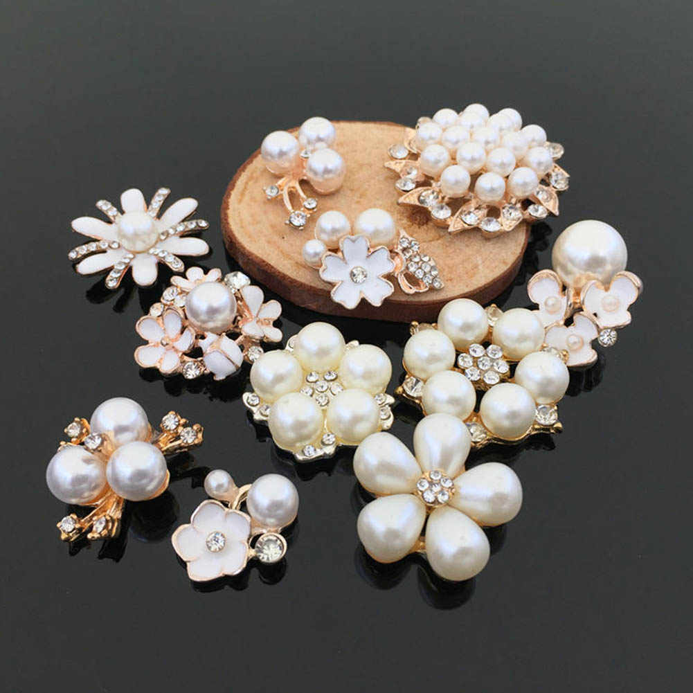 Fashion Wedding Bridal Crystal Faux Pearl Flower Hairpin Hair Clip Bridesmaid 11 Style Choose