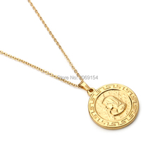 Women Choker Necklace Gold Jewelry 2017 Trendy Stainless Steel Charm Pendant Female Accessories Metal Vintage Box Chain