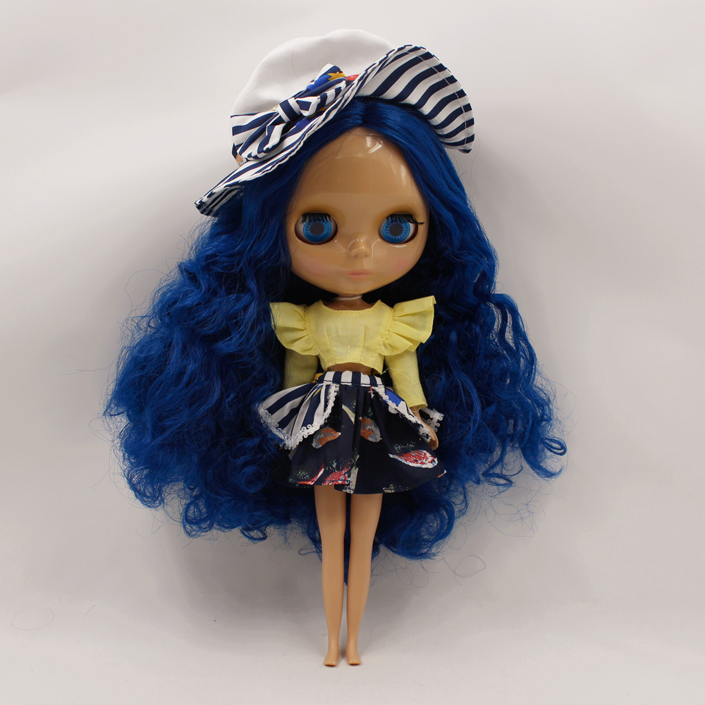 Nude Doll For Series No.1714 BLUE HAIR with bangs nude doll ayanami rei blue hair 6203