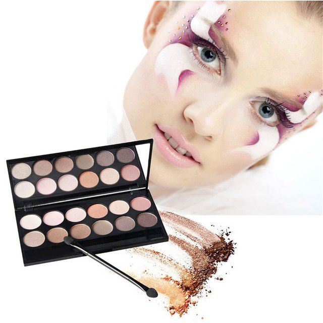 Professional 12 Colors Makeup Colorful Eyeshadow Palette Highlighting Blusher Concealer With Mirror Colormix1