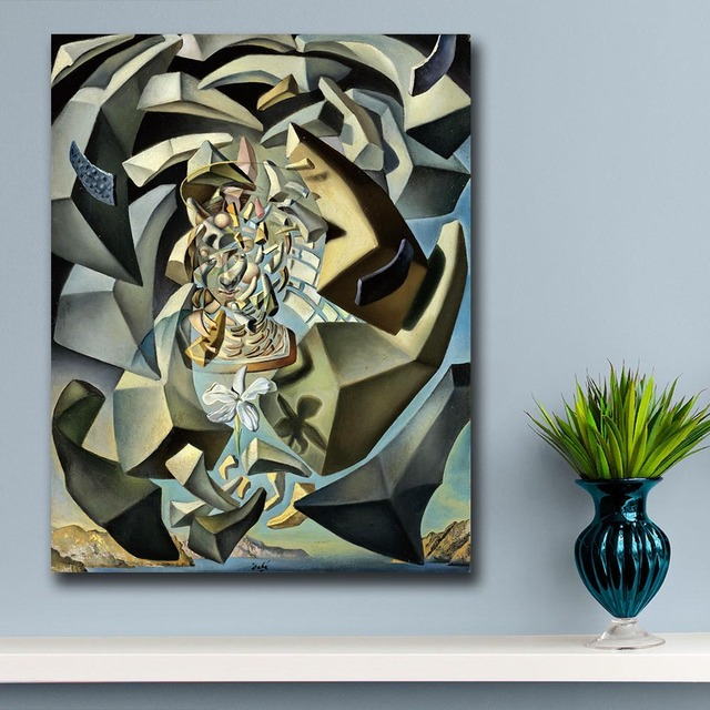 Wall art Salvador Dali 1954 Microphysical Madonna Painting Living Room Home Decoration Oil Painting on Canvas Wall Painting 2