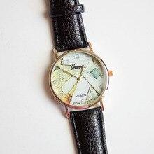 New Design 2016 Hot Sale Women's Fashion Design Leather Floral Printed Analog Quartz Wrist Watch Aug04 Essential